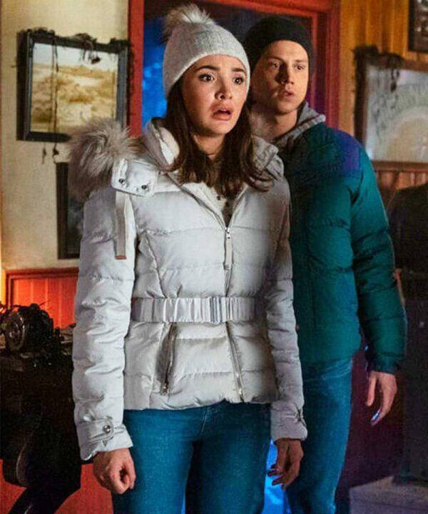 Nancy Drew Maddison Jaizani White Parka Jacket