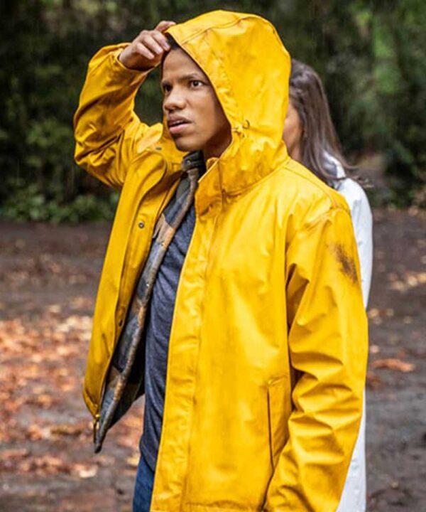 Tunji-Kasim-Nancy-Drew-Ned-Nickerson-Yellow-Hooded-Jacket