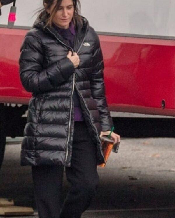 Kathryn Hahn WandaVision Black Puffer Hooded Jacket