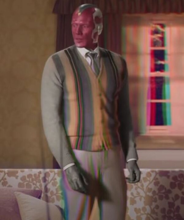 Paul Bettany WandaVision Wool-Blend Cardigan