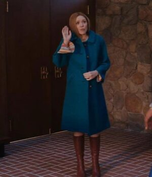 WandaVision Elizabeth Olsen Blue Coat