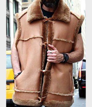 Alexander Camel Brown Shearling Fur Vest