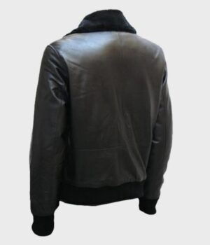 Men's Shearling Bomber Real Leather Jacket