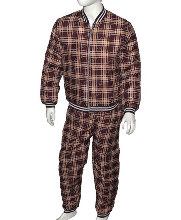 Colin Farrell The Gentlemen Brown Track Suit Front