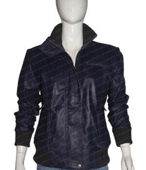 Doctor Who Rose Tyler Purple Bomber Jacket