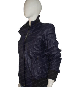 Purple Bomber Jacket Side