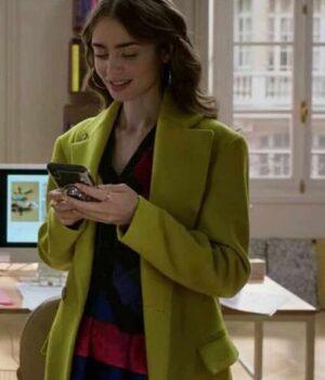 Emilly In Paris Emily Cooper Green Coat