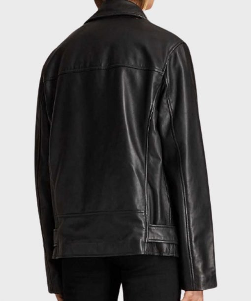 Emily In Paris Camille Black Biker Real Leather Jacket