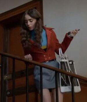 Emily In Paris Cotton Emily Cooper Jacket