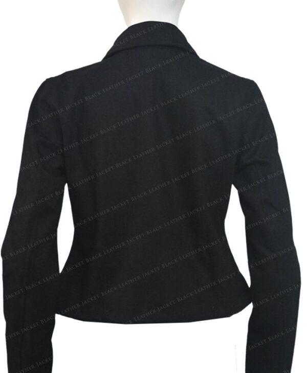 Emily In Paris Emily Cooper Black Cotton Cropped Jacket Back