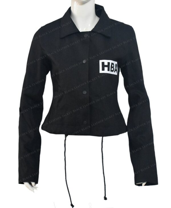 Emily In Paris Emily Cooper Black Cotton Cropped Jacket Front