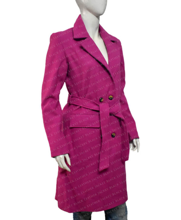 Emily In Paris Emily Cooper Pink Coat Right Side