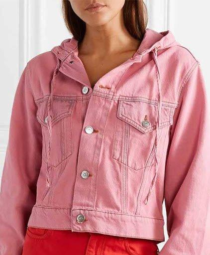 Emily Cooper Emily In Paris Pink Denim Jacket