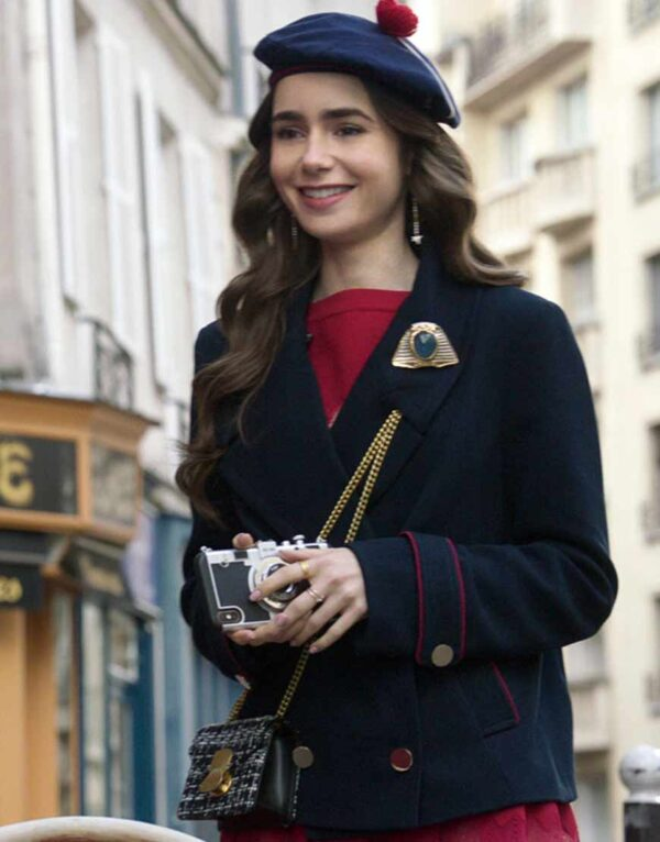 Emily In Paris Emily Cooper blue Coat