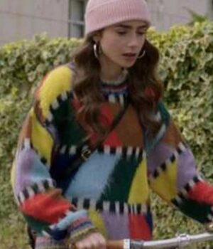 Emily In Paris Lilly Collins Sweater