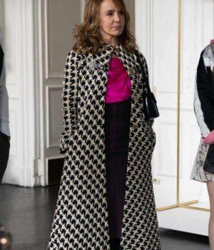 Emily In Paris Sylvie Grateau Black And White Coat