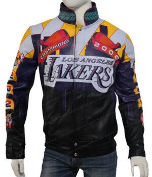 Lakers Los Angeles 2000 Finals NBA Championship Jacket Front