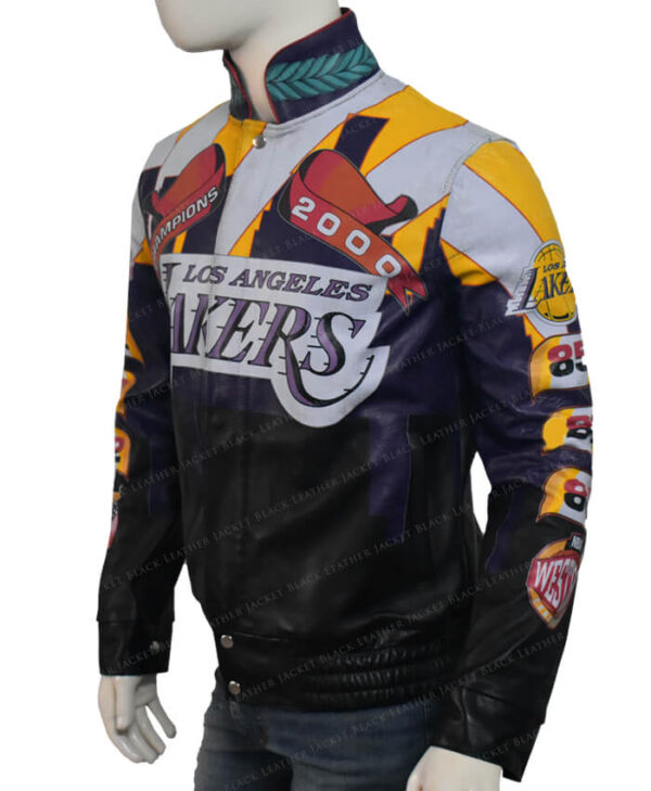 Lakers Los Angeles 2000 Finals NBA Championship Jacket Left Side