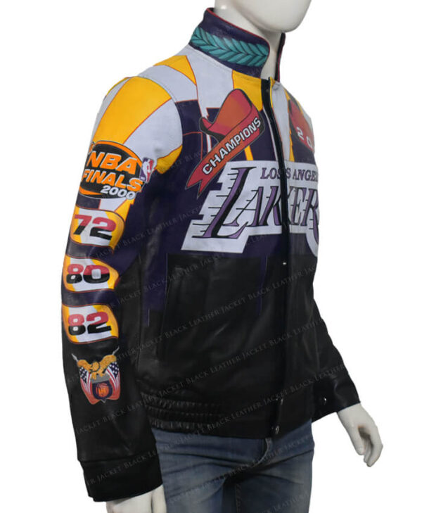 Lakers Los Angeles 2000 Finals NBA Championship Jacket Right Side