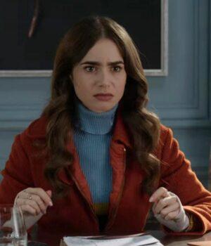 Emily In Paris Emily Cooper Brown Cotton Jacket