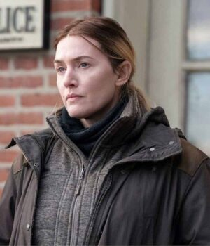 Kate Winslet Mare Of Easttown Collar Style Jacket