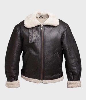 Men's Black B3 Aviator Leather Jacket