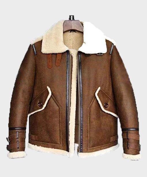 Mens Sheepskin B3 Flight Aviator Shearling Jacket