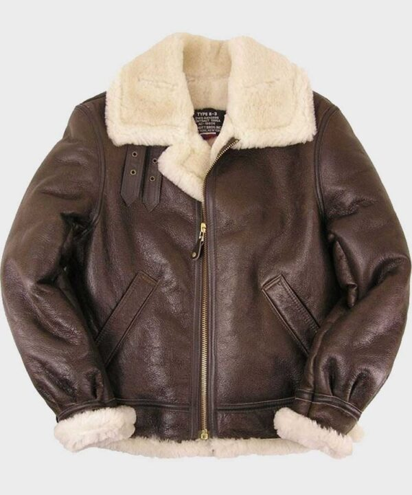Mens Sheepskin B3 Brown Leather Jacket