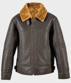 Shearling Leather Brown Jacket