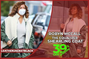 Robyn McCall The Equalizer Shearling Coat