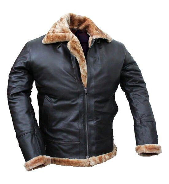 Tom hardy bomber leather jacket