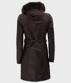 Leather Black Belted Jacket