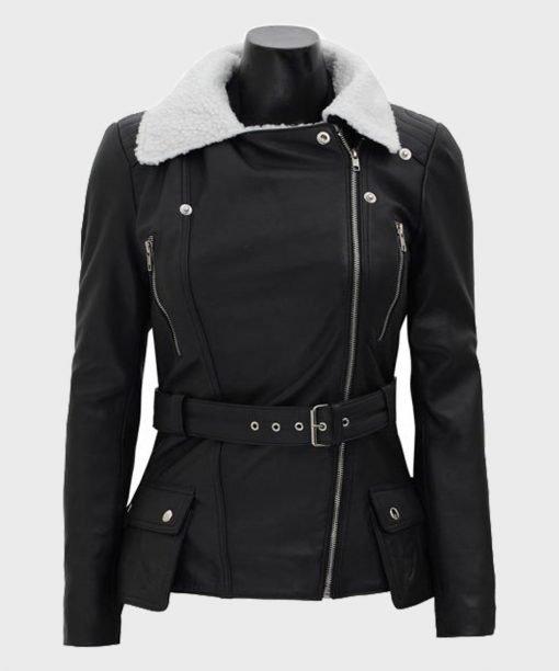 Belted Women's Biker Jacket