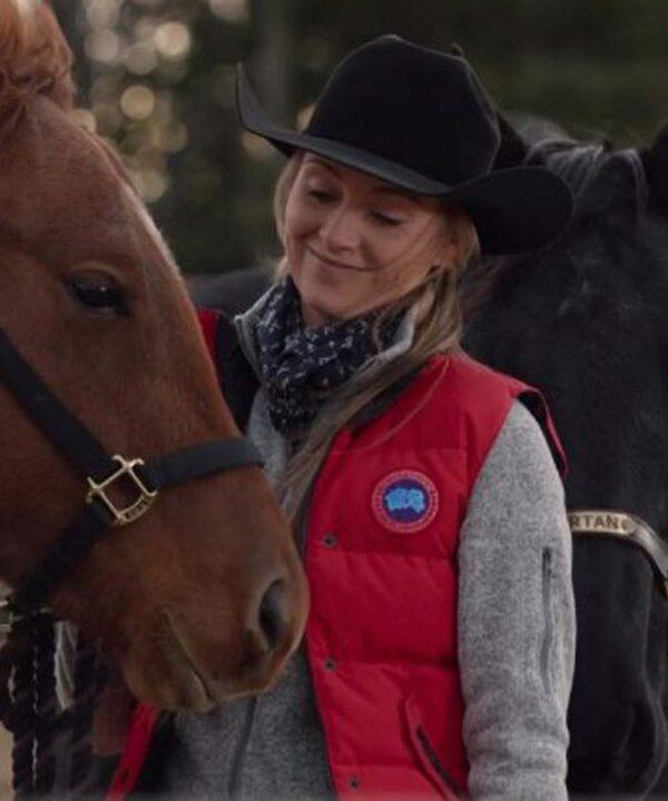 Amber Marshall Heartland S14 Red Vest