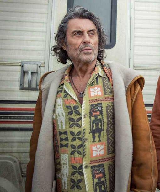 American Gods S03 Mr. Wednesday Leather Jacket
