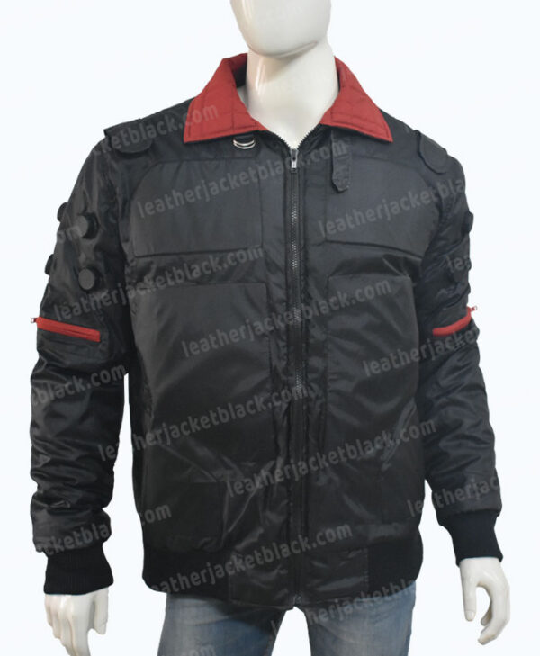 Cyberpunk 2077 Jackie Welles Bomber Jacket Closed Front