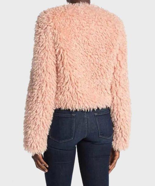 The Equalizer 2021 Laya DeLeon Pink Fur Jacket