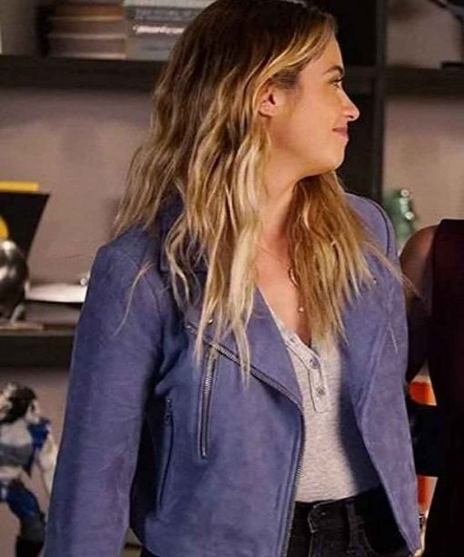 Hanna Pretty Little Liars Marin Leather Jacket Side