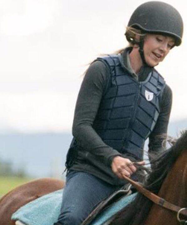 Heartland Amy Fleming Leather Black Vest
