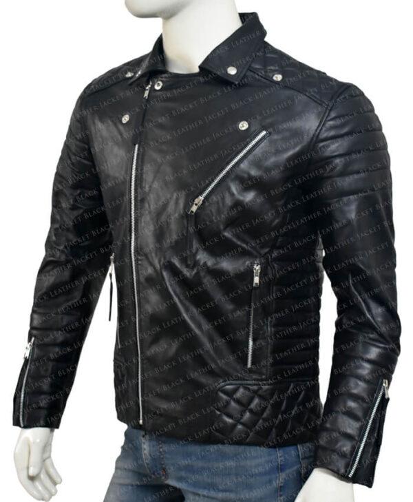 Kay Michael Biker Quilted Jacket left