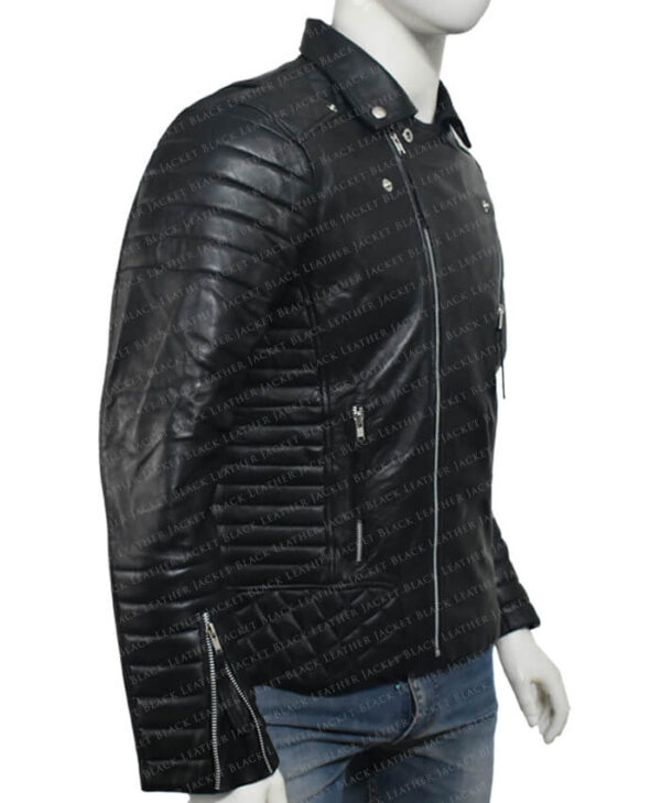 Kay Michael Biker Quilted Jacket right