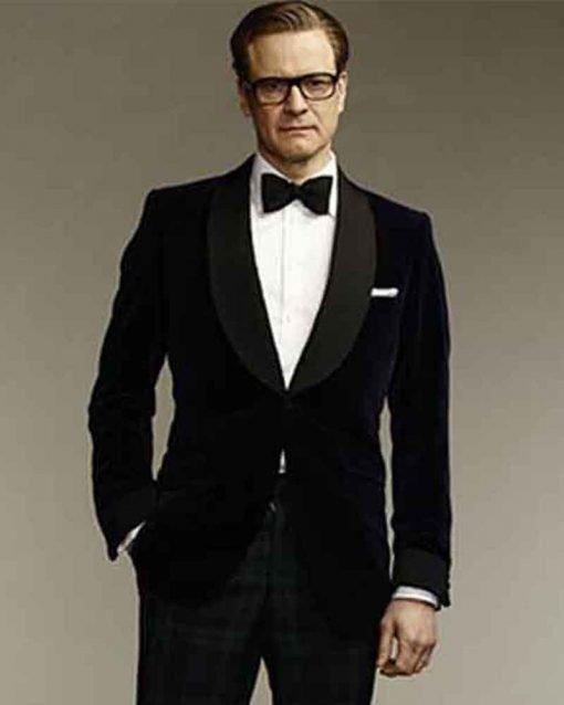 Kingsman Harry Hart Colin Firth Blue Tuxedo