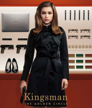 Kingsman Sophie Roxy Trench Black Coat