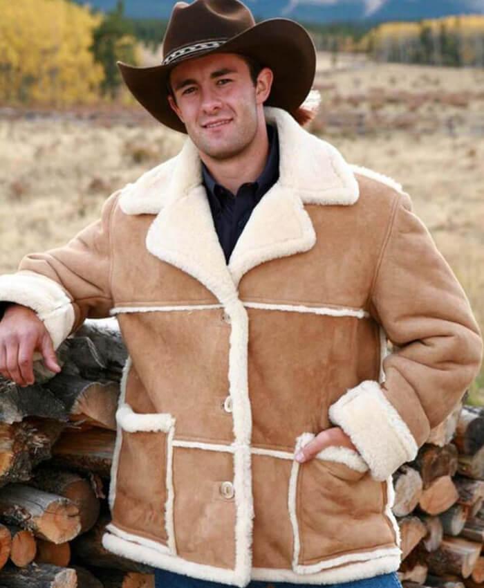 Marlboro Man Shearling Sheepskin Leather Jacket