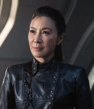 Michelle Yeoh Star Trek Discovery Black Leather Jacket