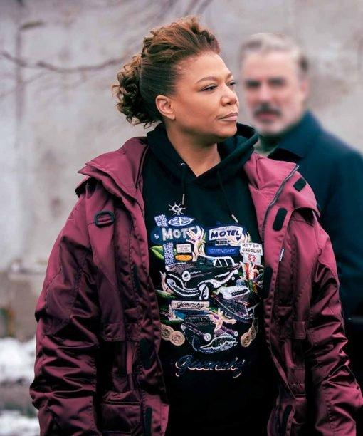 The Equalizer Queen Latifah 2021 Burgundy Jacket