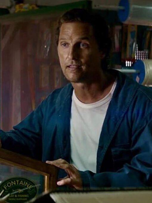 Serenity Matthew McConaughey Blue Cotton Jacket 2