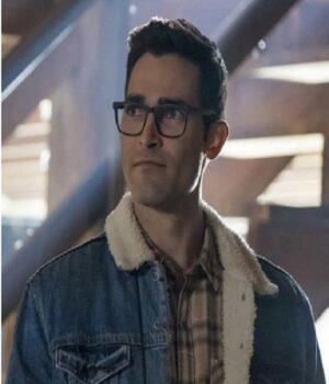 Superman and Lois Clark Kent Denim Viscose Jacket
