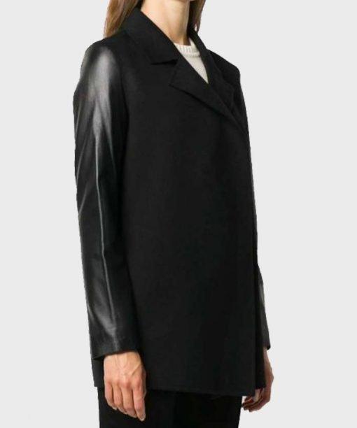 Leather Black Blazer