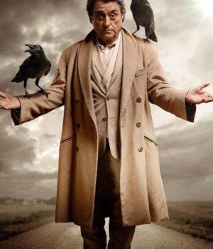 TV Series American Gods Ian Mcshane Wool Coat Front